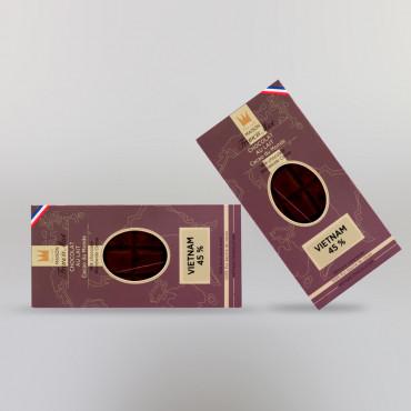 CHOCOLAT AU LAIT DU VIETNAM (45% DE CACAO)