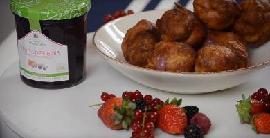Recette choux fourrés au coulis de fruits rouges