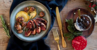 Recette magret de canard, sauce à la confiture figue-cannelle